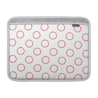 Polka dotsdesign sleeve för MacBook air