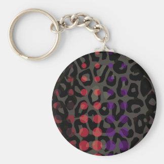 Polka-pricka cheetahen rund nyckelring