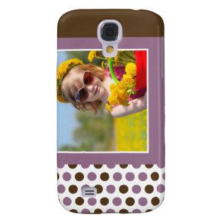 Polkadot fotoanpassningsbar 3G (lilor)