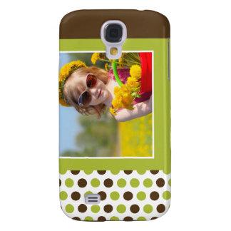 Polkadot fotoanpassningsbar 3G (limefrukt) Galaxy S4 Fodral