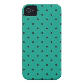 Polkaen för grönt för femtiotalstilsmaragden iPhone 4 cover