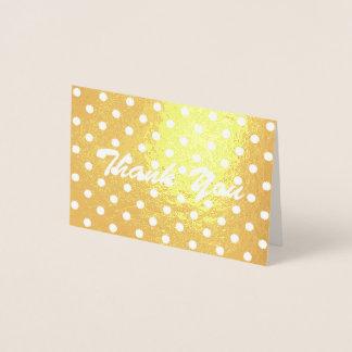 polkaen för minimalisten pricker flickaktigt tack folierat kort