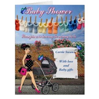 Polkaen pricker baby shower jumbo kort