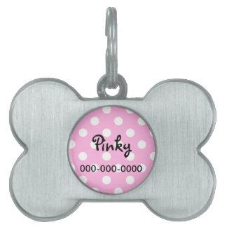 Polkaen pricker den älsklings- legitimationmärkren ID-bricka husdjur