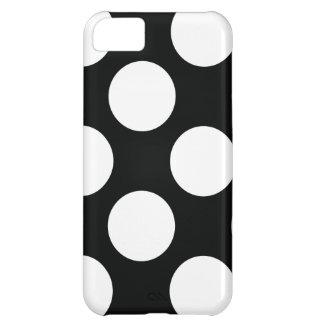 Polkaen pricker (svarten & vit) några den storleka iPhone 5C fodral