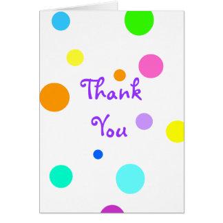 Polkaen pricker tackkortet hälsningskort