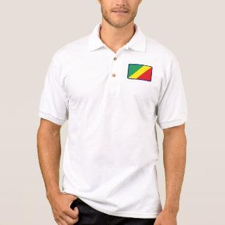 Polo för golf för KongoflodenBrazzaville flagga T Shirt