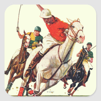 Polomatch Fyrkantigt Klistermärke
