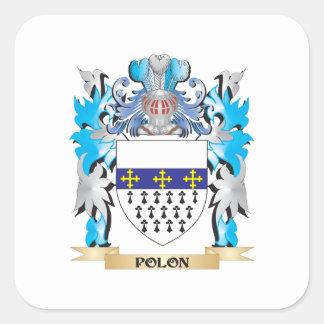 Polon vapensköld - familjvapensköld fyrkantigt klistermärke