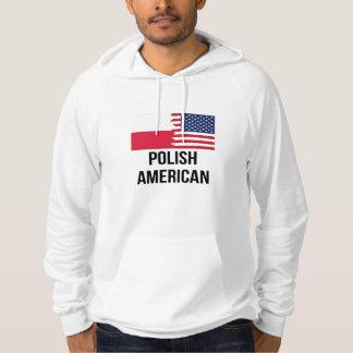 Polsk amerikanska flaggan hoodie