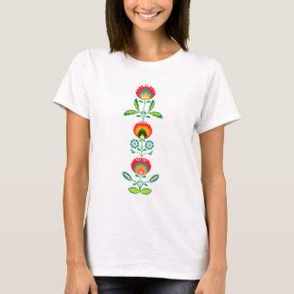 Polsk blom- broderi, T-tröja T Shirts