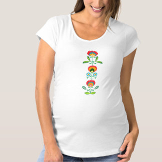 Polsk blom- broderi, tee shirts