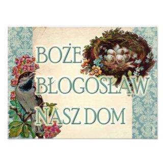 Polsk Boże Błogosław Nasz Dom-välsigna dig vårt he Foton