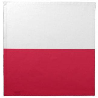Polsk flagga på den MoJo servetten Tygservett