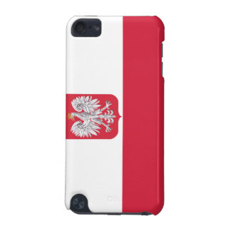 Polsk flaggavapensköldipod touch case iPod touch 5G fodral