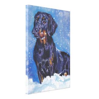 polsk målning för hund för jakthundkonst canvastryck