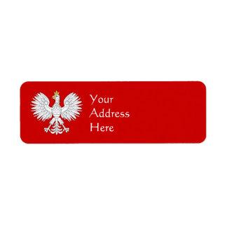 Polsk örn returadress etikett