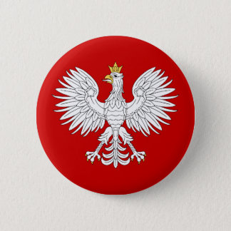 Polsk örn standard knapp rund 5.7 cm