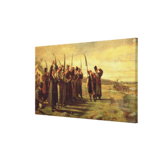 Polska Insurrectionists av revoltet 1863 (olja Canvastryck
