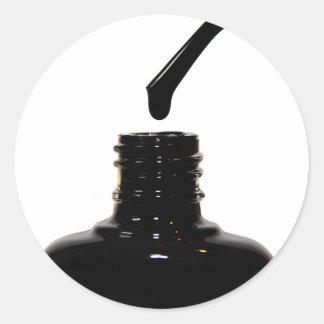Polska klistermärkear för nagel runt klistermärke