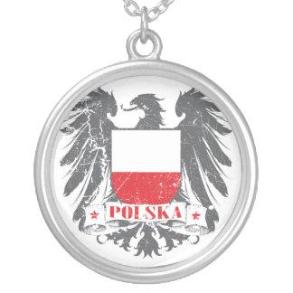 Polska skyddar silverpläterat halsband