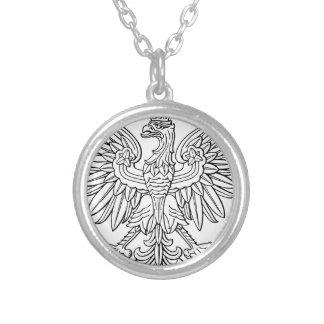 Polskt symbol halsband med rund hängsmycke