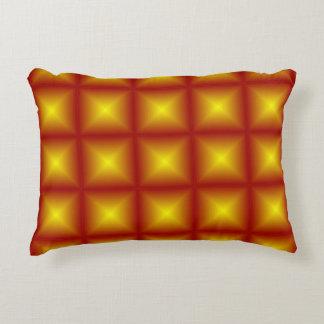 Poly geometriskt för rödaktig guld- stjärna prydnadskudde