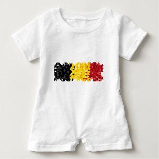 Poly konstBelgien flagga, belgiskt bekläda för T-shirt