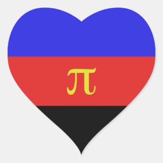 Polyamory flagga hjärtformade klistermärken
