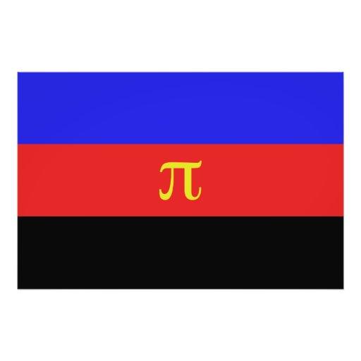 Polyamory flagga fotografiska tryck