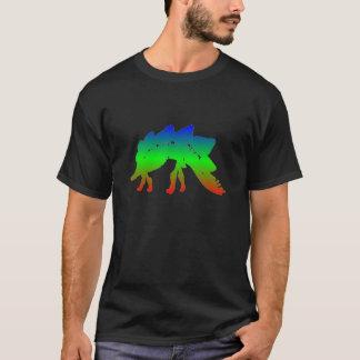 polychromatic stegosaurus tee shirt