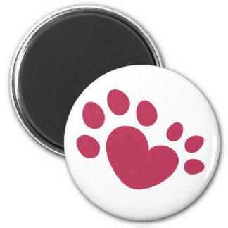 Polydactyl hjärta för katttasstryck magnet