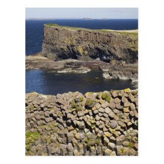Polygonal basalt, Staffa, av islen av Mull, Vykort