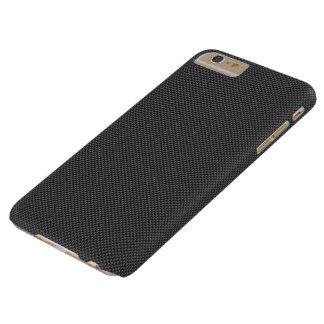 Polymer för svart- och grå färgkolfiber barely there iPhone 6 plus fodral