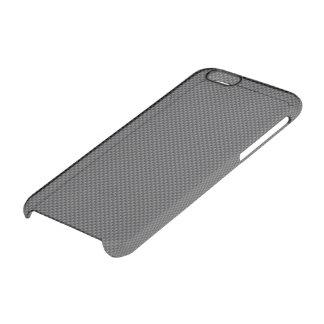 Polymer för svart- och grå färgkolfiber clear iPhone 6/6S skal