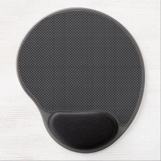 Polymer för svart- och grå färgkolfiber gel musmatta