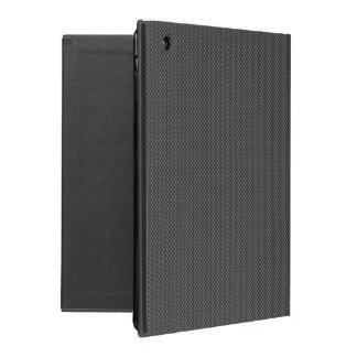 Polymer för svart- och grå färgkolfiber iPad folio skal