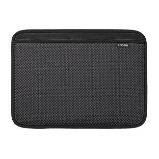 Polymer för svart- och grå färgkolfiber MacBook air sleeve