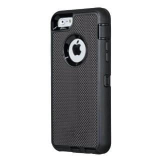 Polymer för svart- och grå färgkolfiber OtterBox iPhone 6/6s fodral