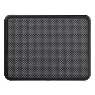 Polymer för svart- och grå färgkolfiber skydd för dragkrok