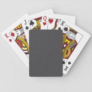 Polymer för svart- och grå färgkolfiber spel kort