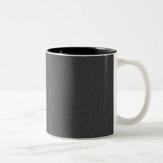 Polymer för svart- och grå färgkolfiber Två-Tonad mugg