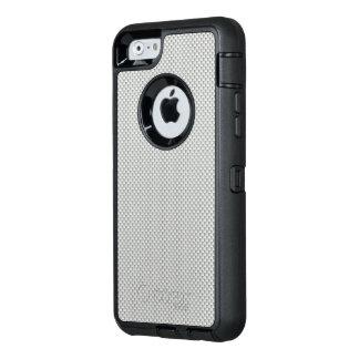 Polymer för vit- och grå färgkolfiber OtterBox defender iPhone skal