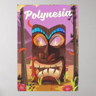 Polynesia Tiki maskerar Poster