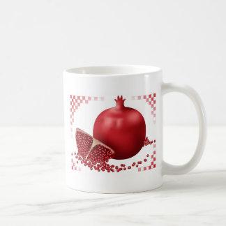 Pomegranate med frö vit mugg