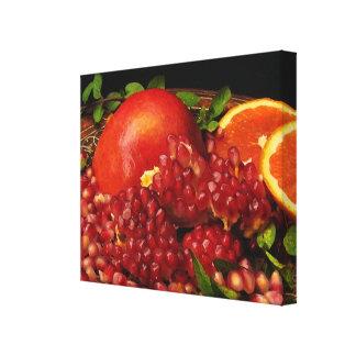 Pomegranate, orange och Mint Canvastryck