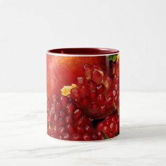 Pomegranate, orange och Mint Två-Tonad Mugg