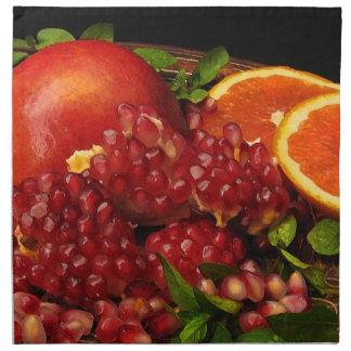 Pomegranate, orange och Mint Tygservett