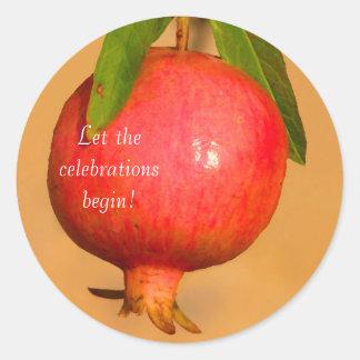 Pomegranate Rosh HaShana Runt Klistermärke