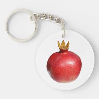 Pomegranate Rund Enkelsidig Nyckelring I Akryl